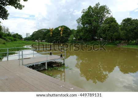 Ping river in chiang mai thailand - stock photo