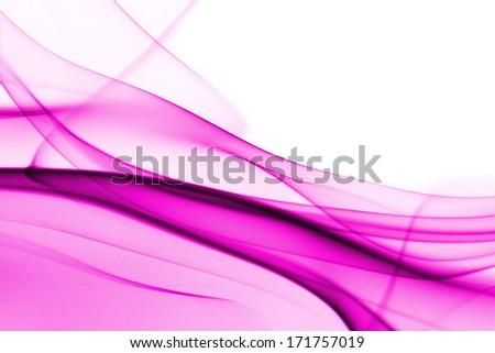 Pink abstract smoke on white background - macro photo - stock photo