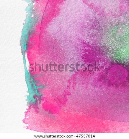 pink abstract watercolor background - stock photo