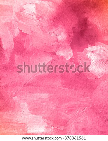 Pink acrylic paint texture. Abstract background for editing and design - stock photo