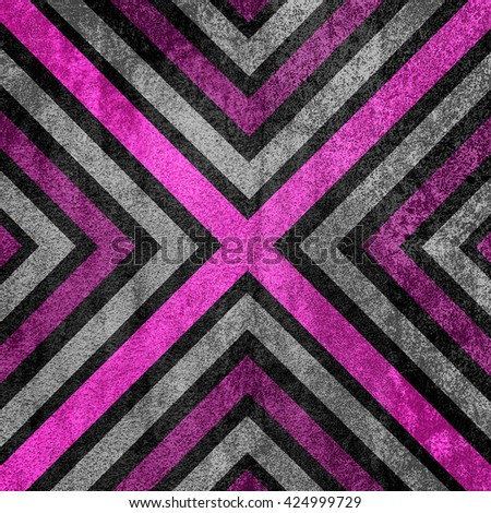 Pink and black abstract old background texture with X pattern. - stock photo