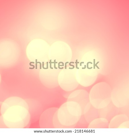 Pink and golden  holiday bokeh. Abstract Christmas background. Defocused Bokeh twinkling lights Vintage background. - stock photo