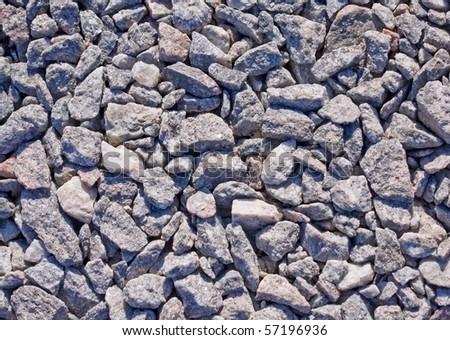 Pink and gray granite gravel texture - stock photo