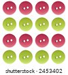 Pink and Green Buttons - stock vector