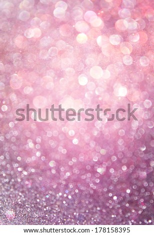 pink and purple abstract bokeh lights. defocused background   - stock photo