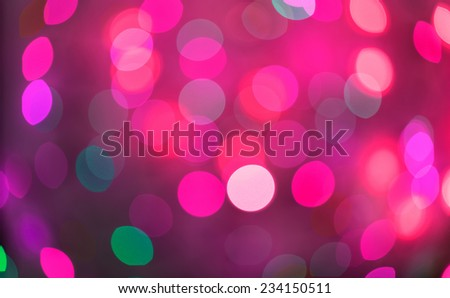 Pink and red holiday bokeh. Abstract Christmas background, christmas lights background - stock photo