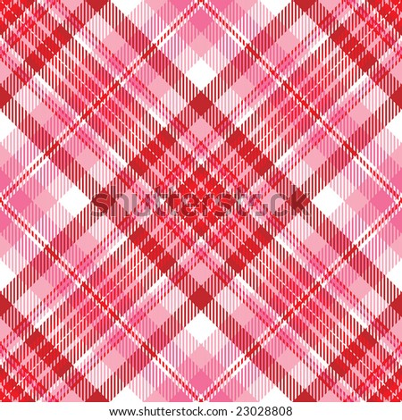Pink and Red Plaid - stock photo