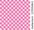 Pink and white gingham cloth background with fabric texture, suitable for Valentine's Day and wedding designs ( for seamless pattern and vector EPS see image 125507432 ) - stock photo