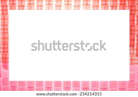 Pink and white picture frame  - stock photo