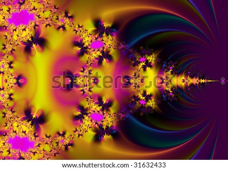 Pink and yellow abstract background pattern - stock photo