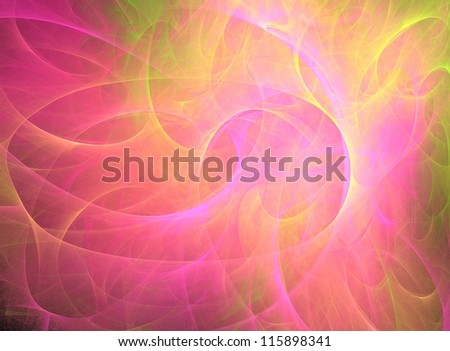 pink and yellow abstract fractal background - stock photo