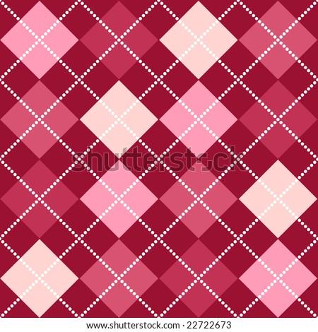 Pink Argyle - stock photo