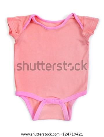 pink  Baby Ringer T shirt - stock photo