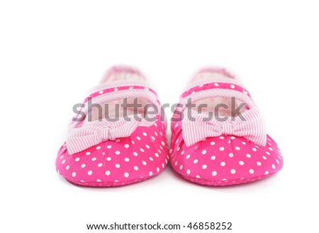 Pink Baby Shoes - stock photo