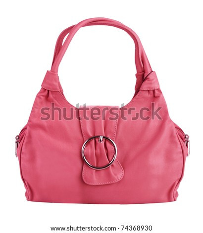 pink bag - stock photo