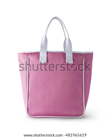 Pink bag on white background