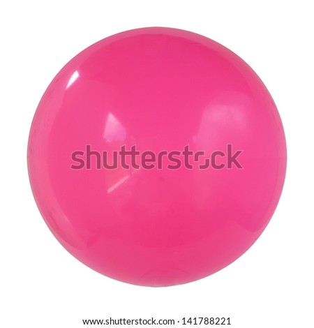 pink ball isolated on white - stock photo
