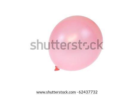 pink balloon isolated - stock photo