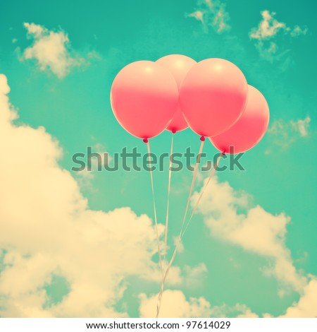 Pink Balloons - stock photo