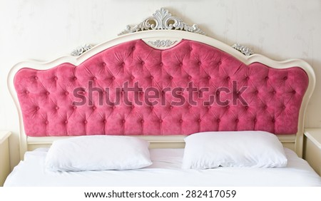 Pink beautiful bedhead - stock photo