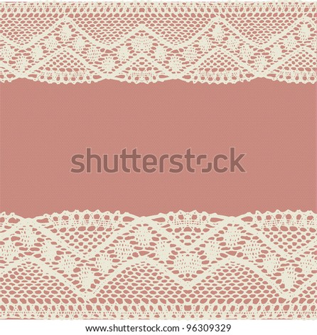 Pink-beige pale lace background. Raster.