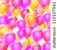 Pink birthday balloons abstract background - stock photo