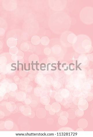 Pink birthday blurred background - stock photo