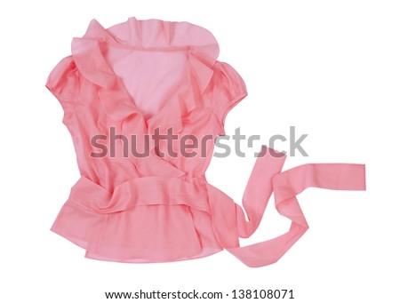 pink blouse - stock photo