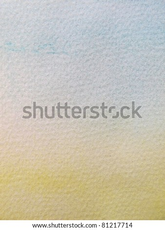 Pink Blue & Yellow Pastel Watercolor Background - stock photo