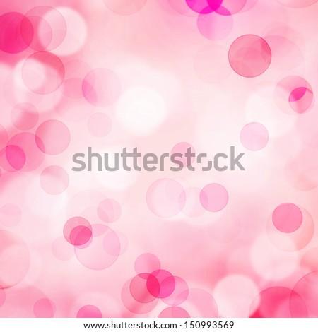 Pink bokeh background - stock photo