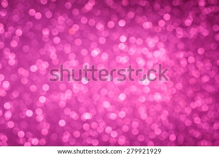 Pink bokeh lights background - stock photo