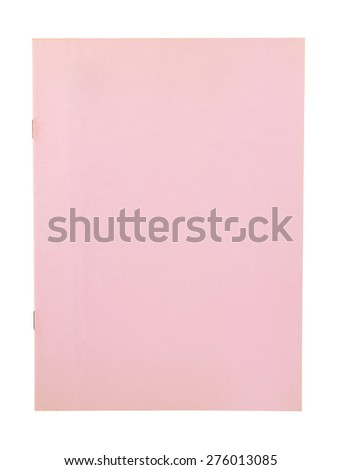 pink book cover isolated on white background - stock photo