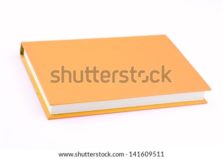Pink book on isolated - stock photo