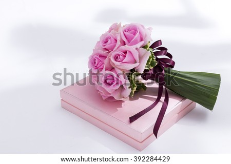 Pink bouquet - stock photo