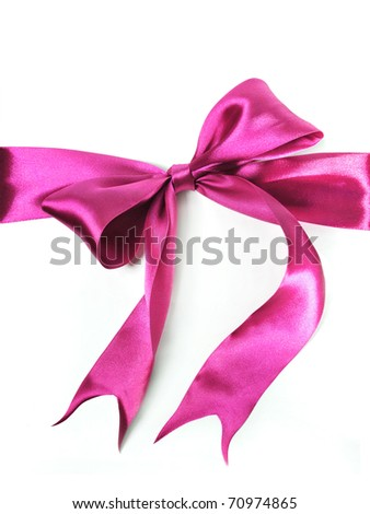 pink bow - stock photo
