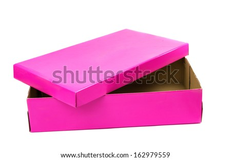 pink box isolated on white background