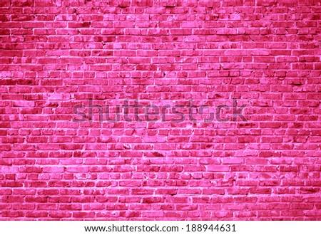 Pink brick wall background  - stock photo