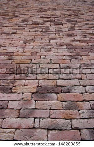 Pink Brick Wall Texture, square bricks background of decorate