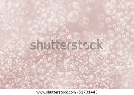 pink bubbles, rendered image representational of pink champagne - stock photo