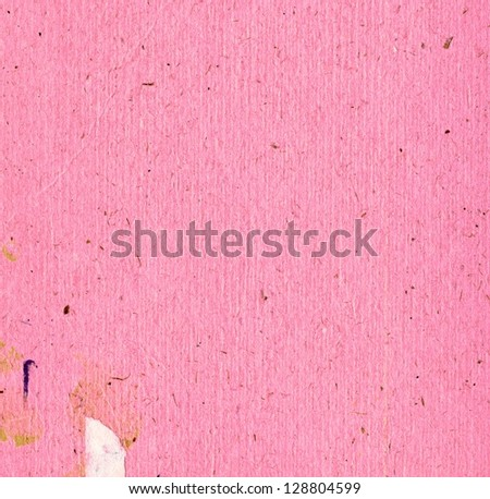 Pink cardboard with white detail - stock photo