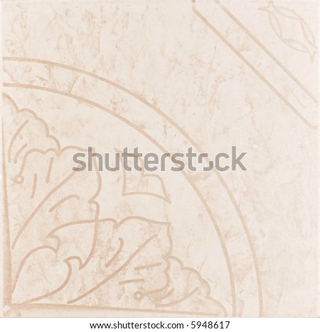 Pink ceramic tile with pattern - stock photo