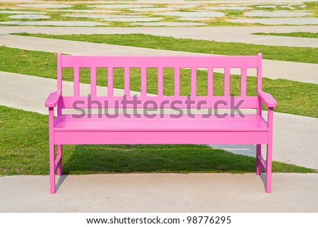 pink chair in the park