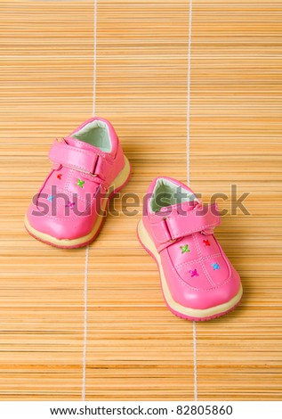 Pink children's shoes