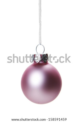 pink christmas balls isolated