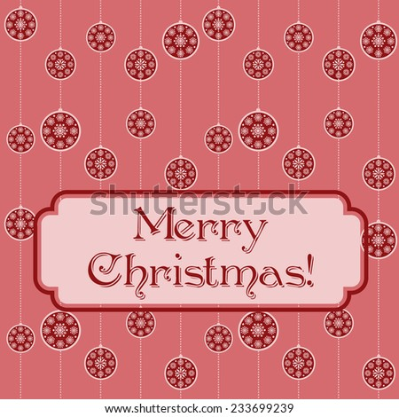Pink Christmas baubles funky retro background - stock photo