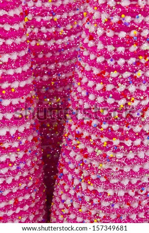 Pink Christmas Tree Background - Pink Christmas Tree Texture for Wallpaper or Background - stock photo