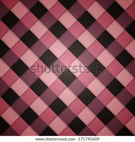Pink clean retro checked diagonal seamless background pattern