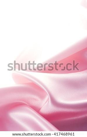 Pink cloth drape - stock photo