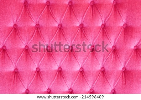 Pink Color Velvet leather texture from sofa - stock photo