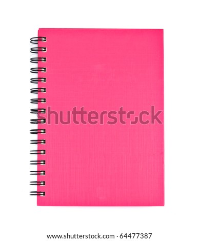 Pink cover of Note book Horizontal - stock photo